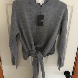J.O.A. Front Tie Sweater